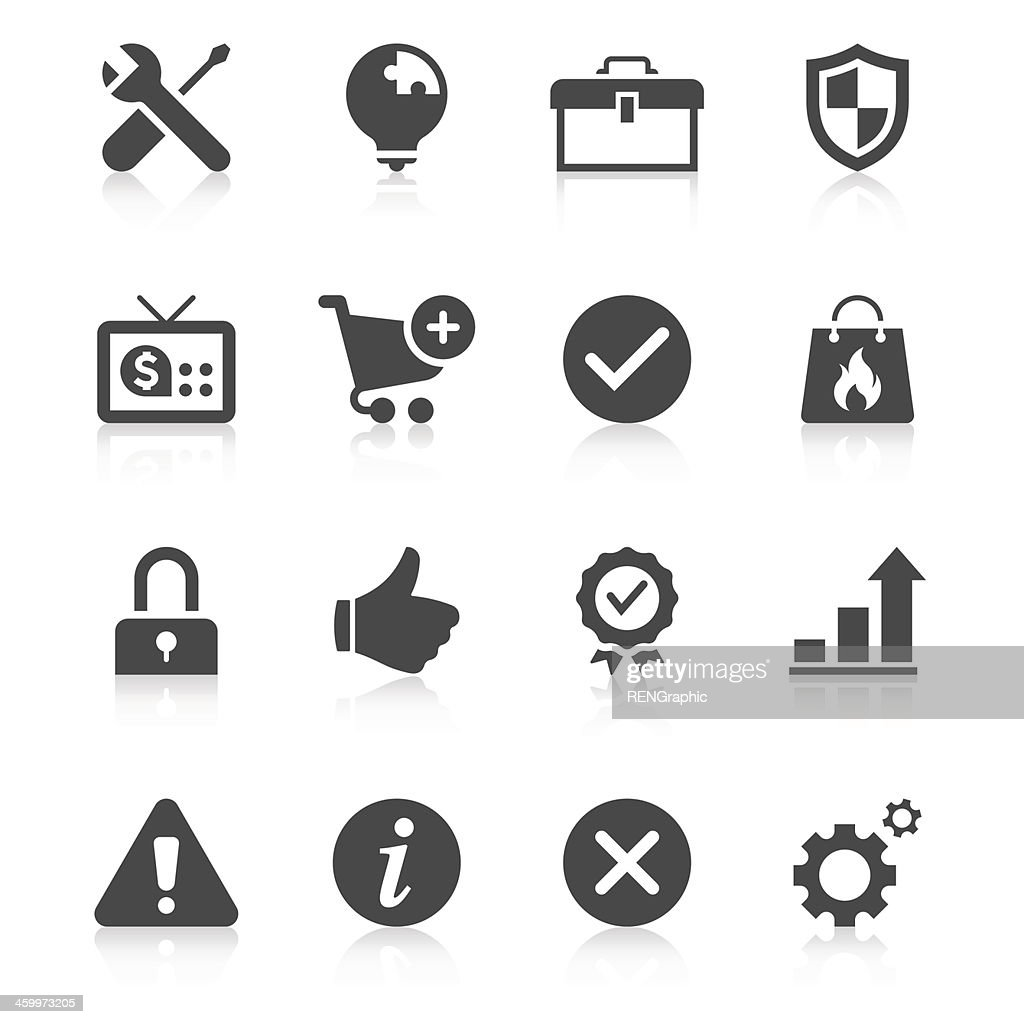 Black And White Set Of Internet Communications Icons Vector Art