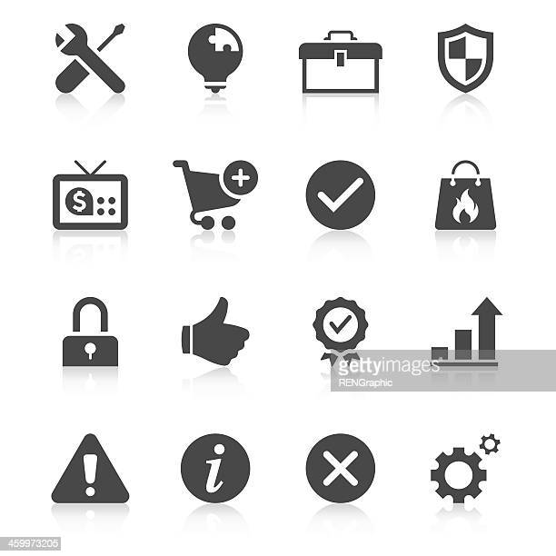 black and white set of internet communications icons - information symbol stock illustrations, clip art, cartoons, & icons