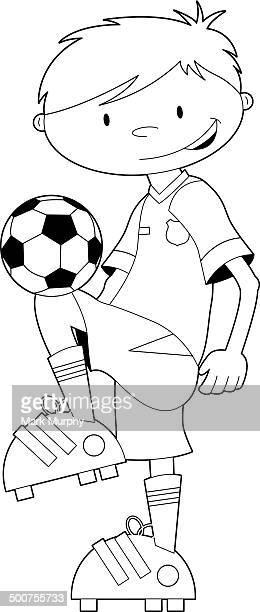 Preto e Branco futebol Jogador de futebol
