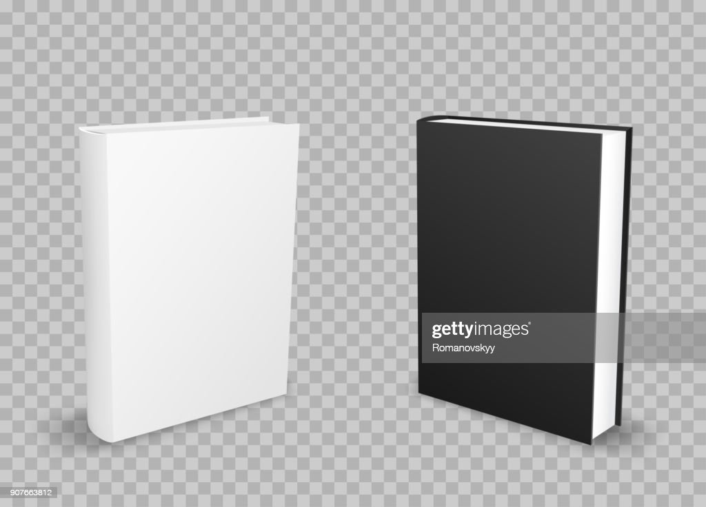 black and white standing books