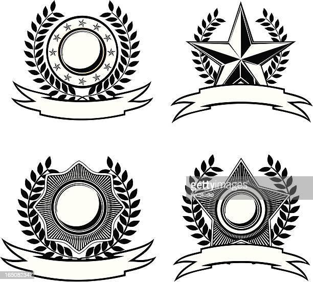 star noir et blanc insignias