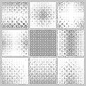 Black and white star pattern design set