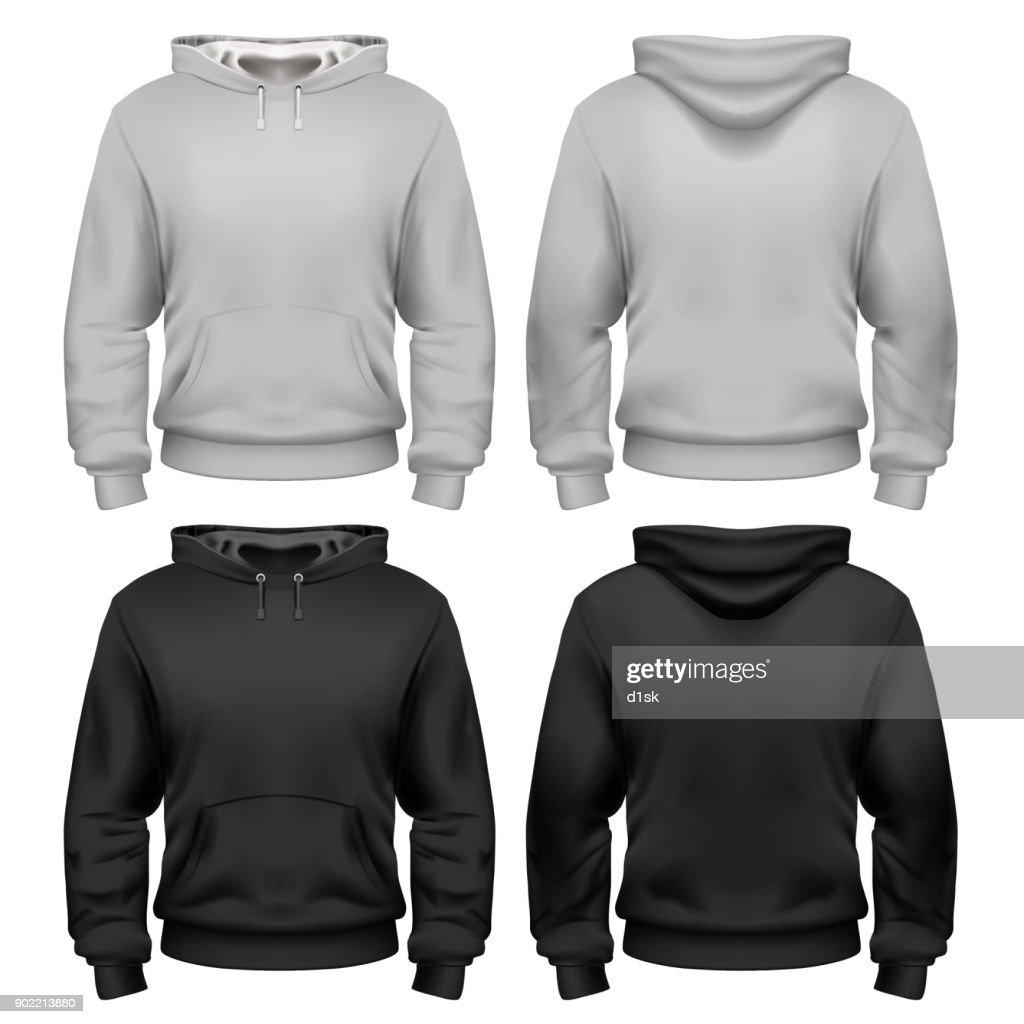 Black and white sweatshirt template