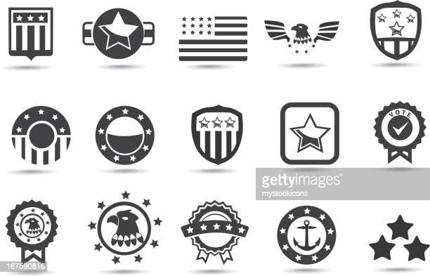 black and white symbols of american institutions - military stock illustrations, clip art, cartoons, & icons