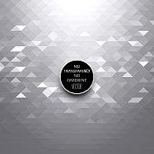 Black and white triangles geometric background.