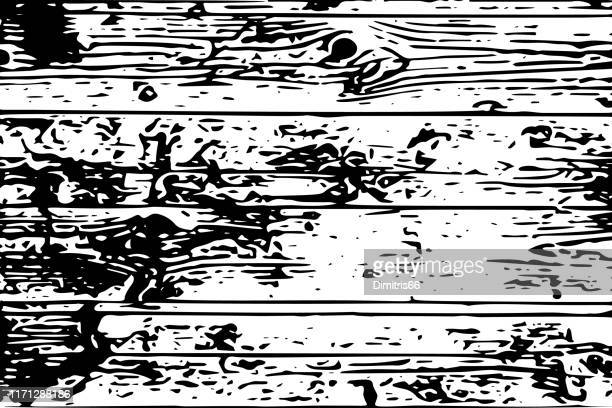 black and white wood planks background - floorboard stock illustrations, clip art, cartoons, & icons