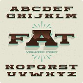 """Black and wide typeface named """"Fat"""""""