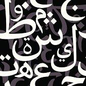 Black Arabic Seamless Pattern