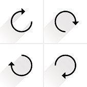 Black arrow sign reset, repeat, reload icon
