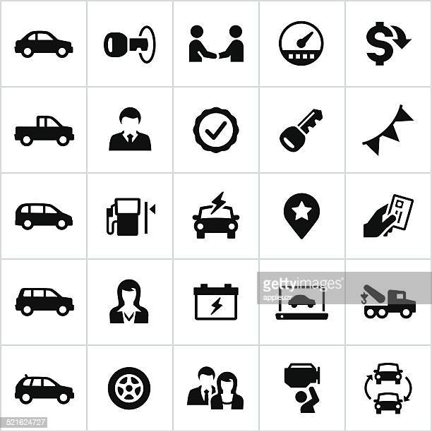black auto dealership icons - tire vehicle part stock illustrations, clip art, cartoons, & icons