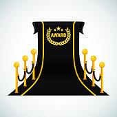 black award carpet poster template