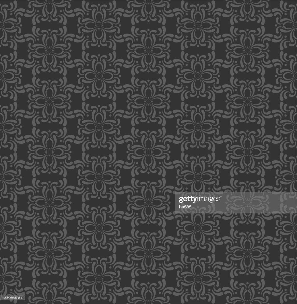 black background, seamless pattern