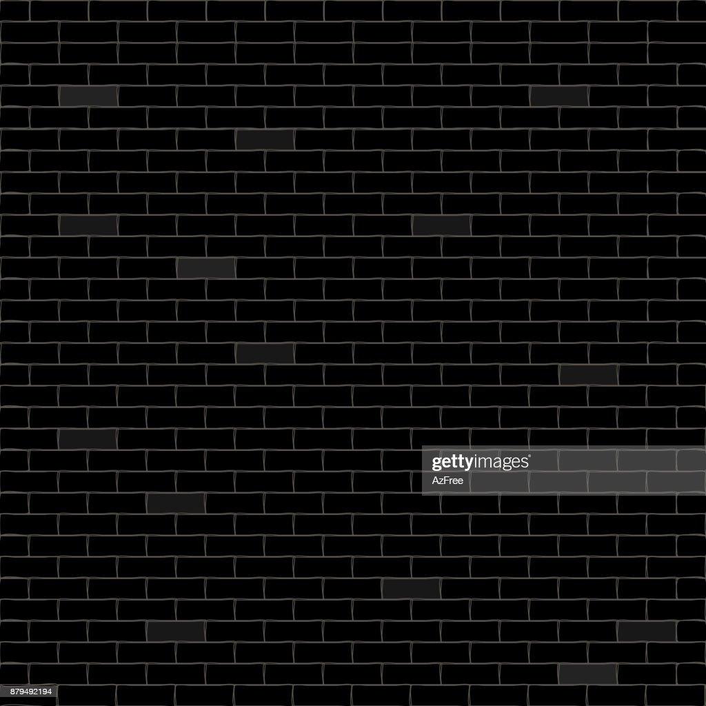 Black background with bricks. Vector illustration.
