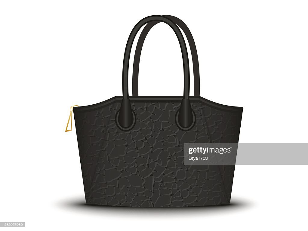 black bag on white background