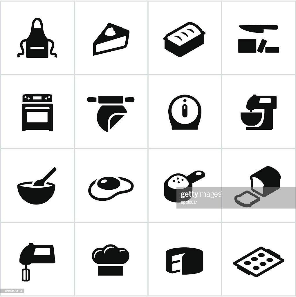 Black Baking Icons