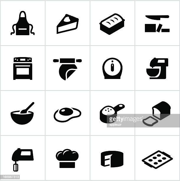 Black Baking Icons