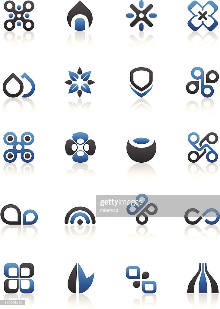 Black blue and white Design elements and graphics
