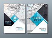 Black blue annual report brochure flyer design, Leaflet cover presentation, book cover template.