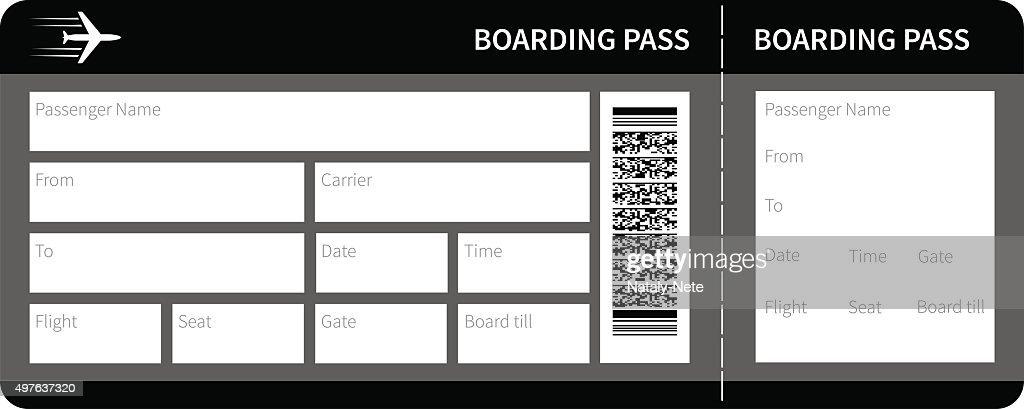 black boarding pass