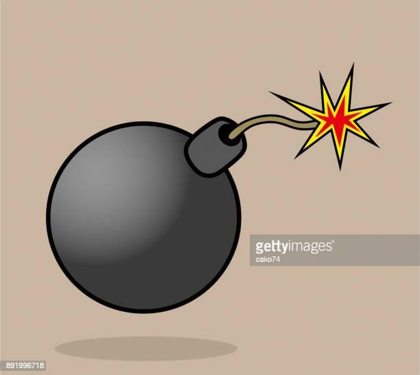 Black bomb vector illustration