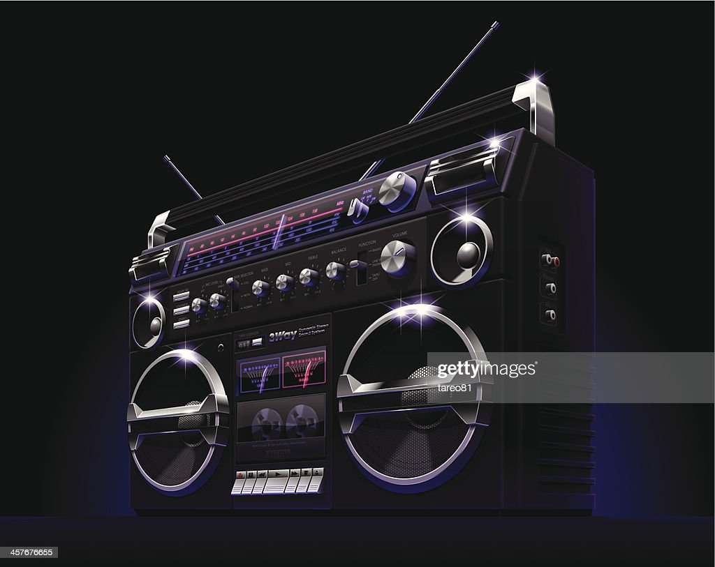 Black Boombox : stock vector
