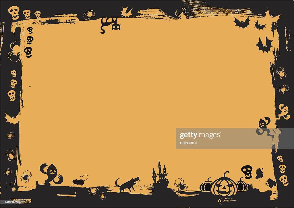 black border with halloween