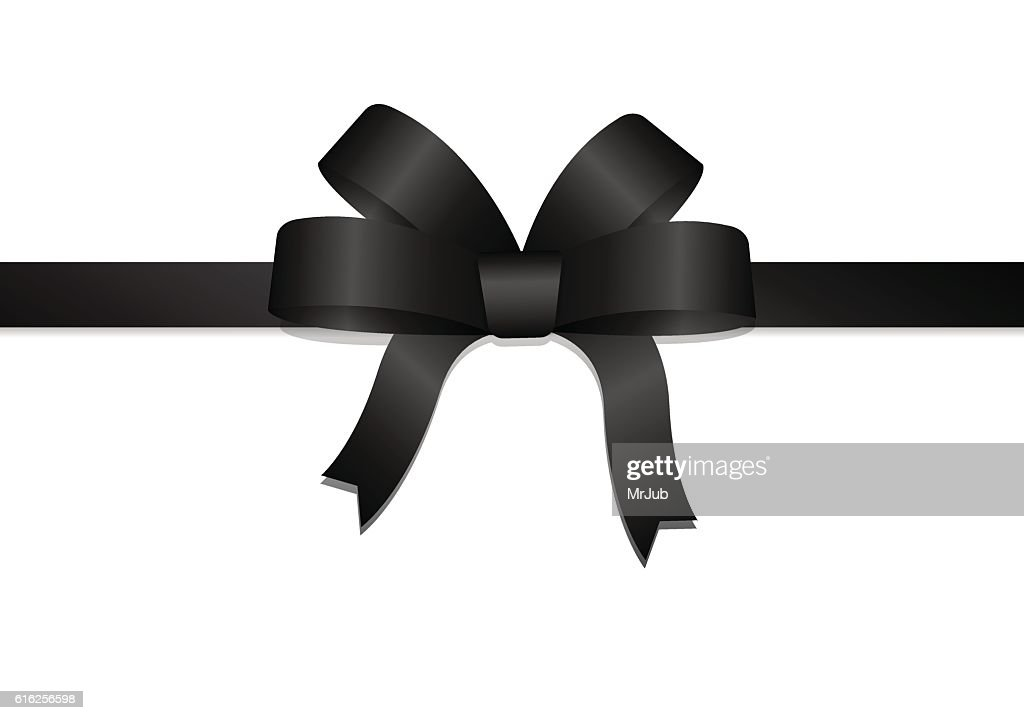 Black bow and ribbon : Arte vectorial