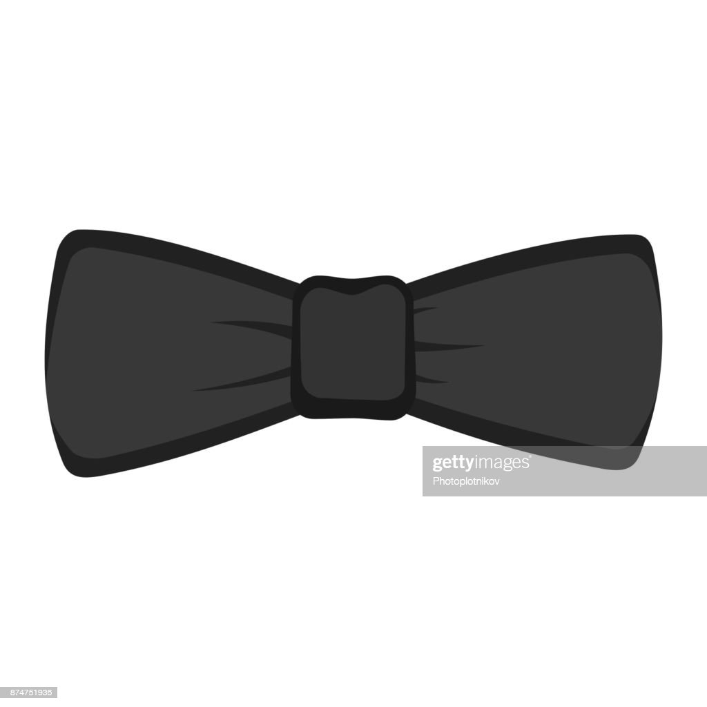 Black bow tie isolated on white background