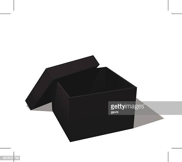 ilustraciones, imágenes clip art, dibujos animados e iconos de stock de caja negra - caja de regalo