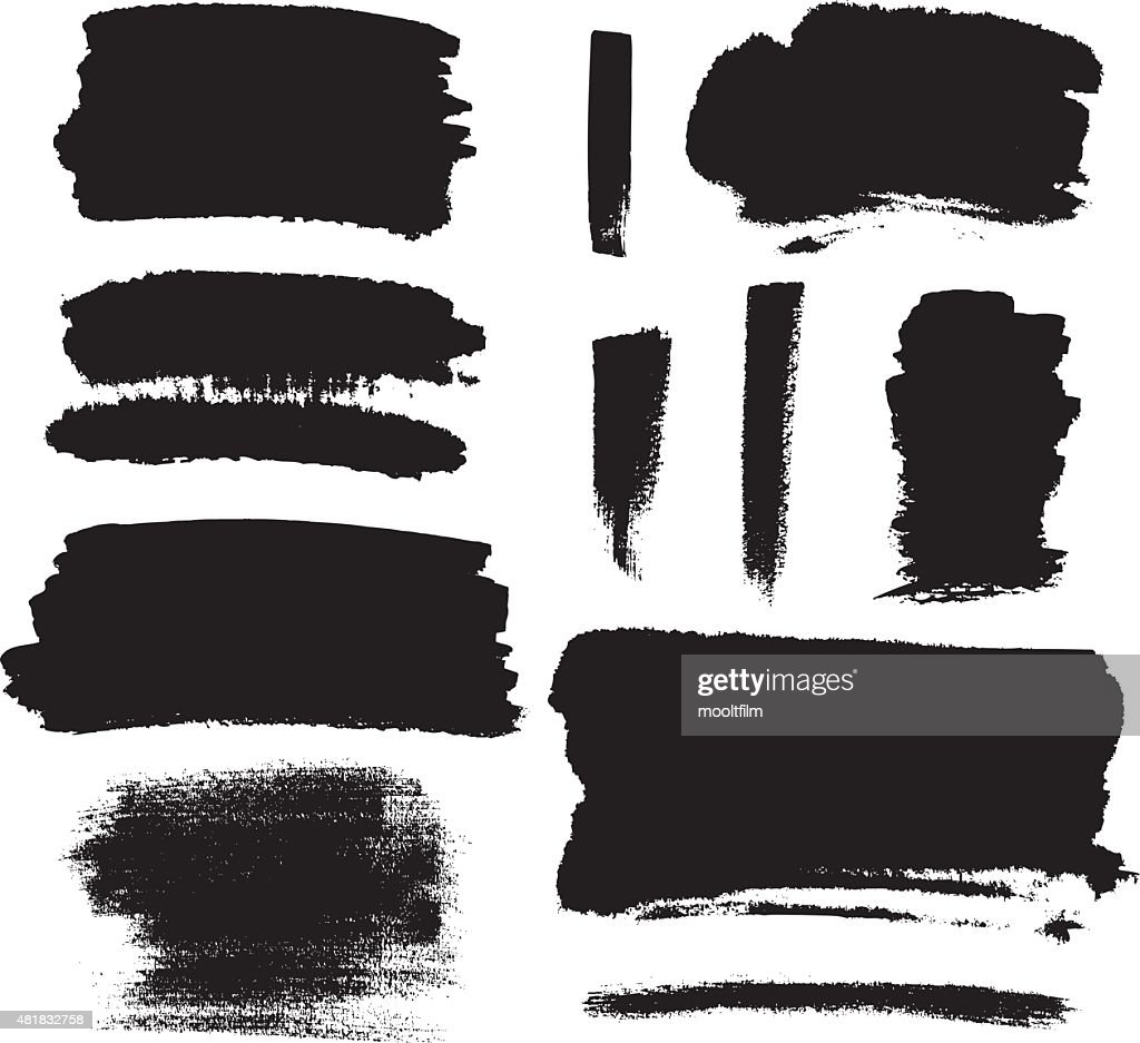 Black brush strokes