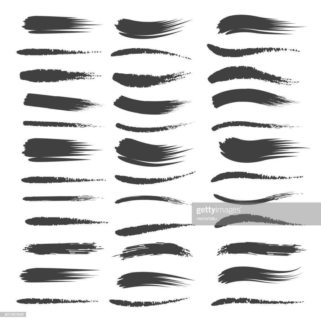 Black brushstroke set