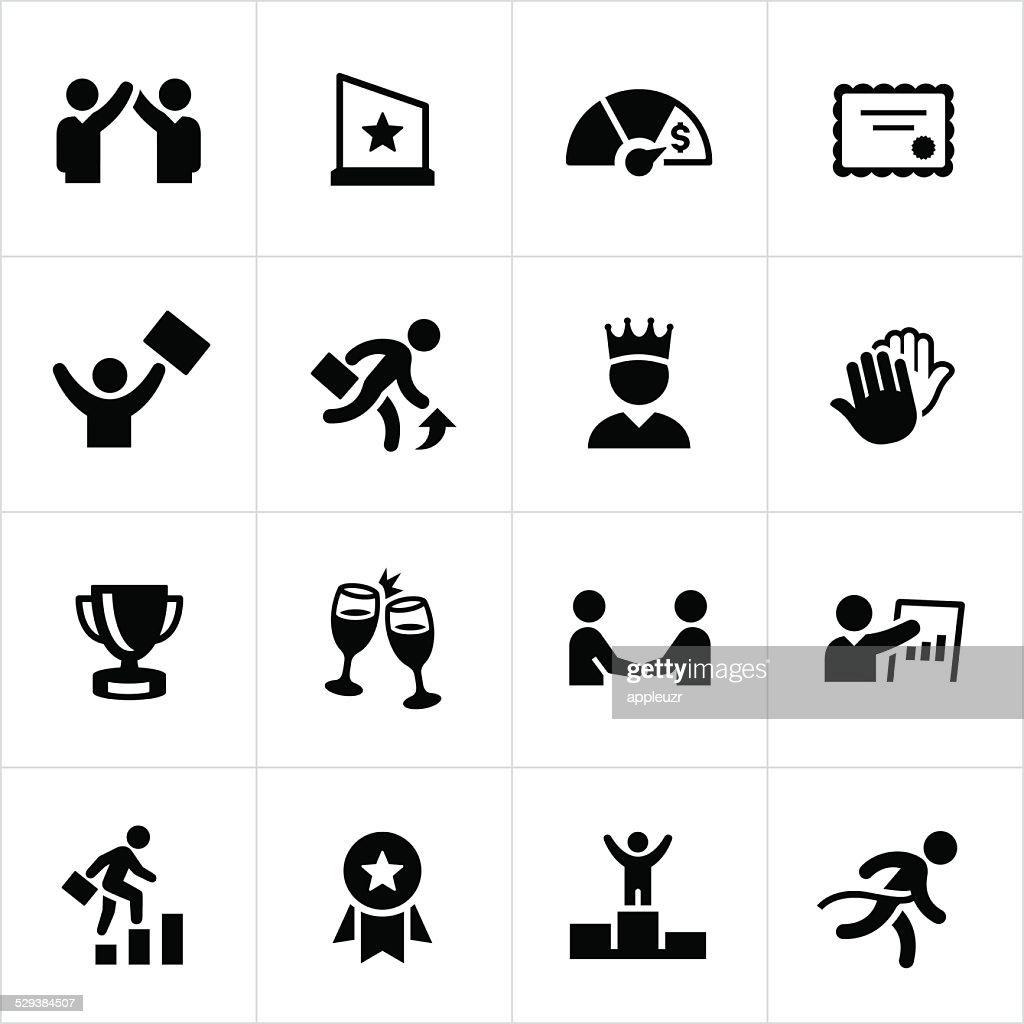 Black Business Achievement Icons