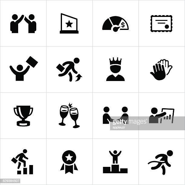 Black Business-Erfolg-Icons