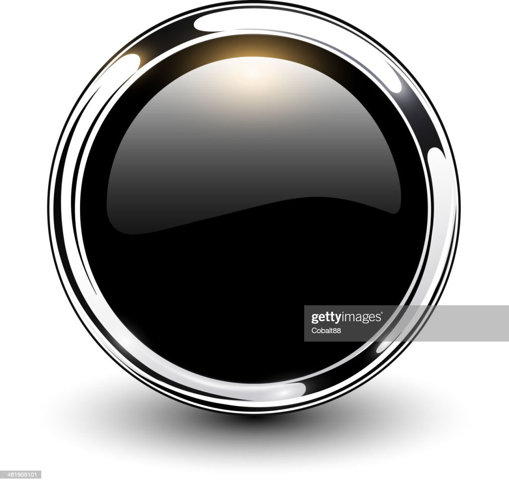 Black button with silver outline