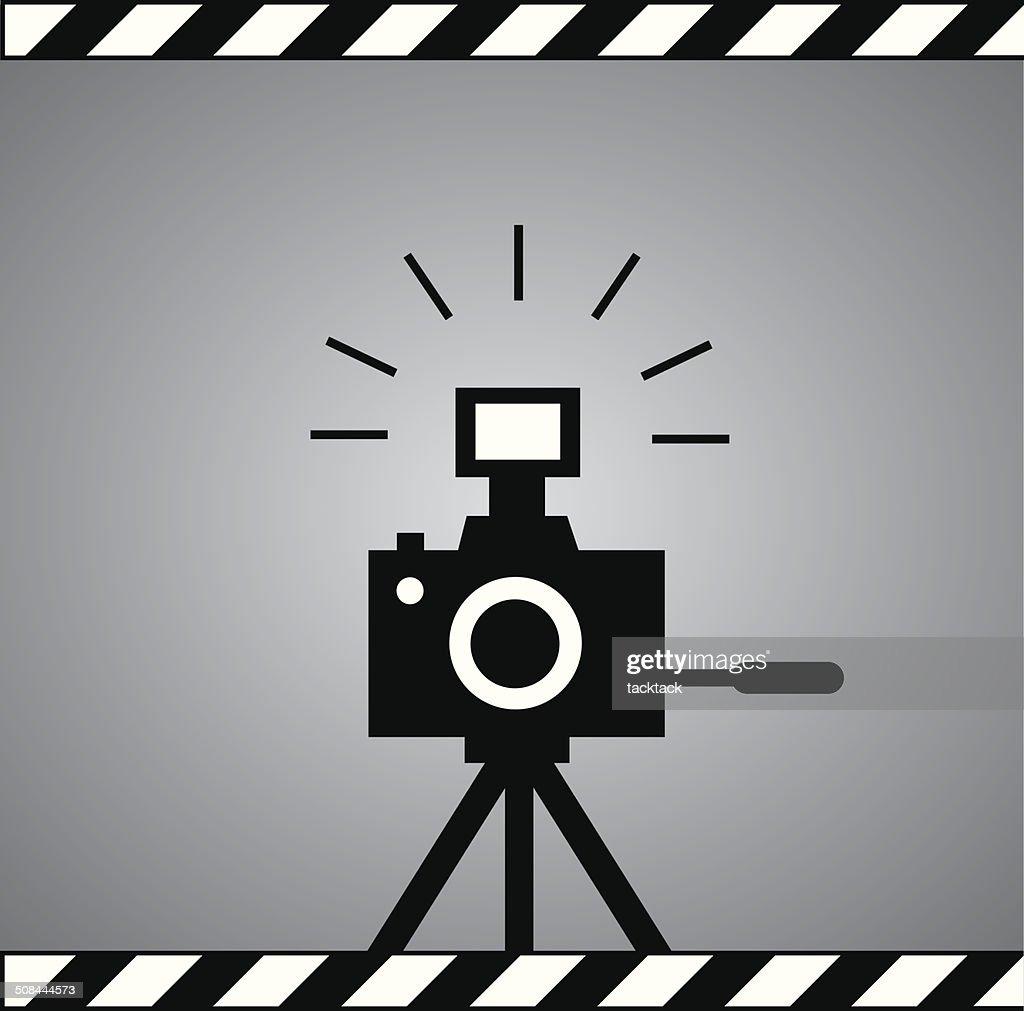 black camera symbol