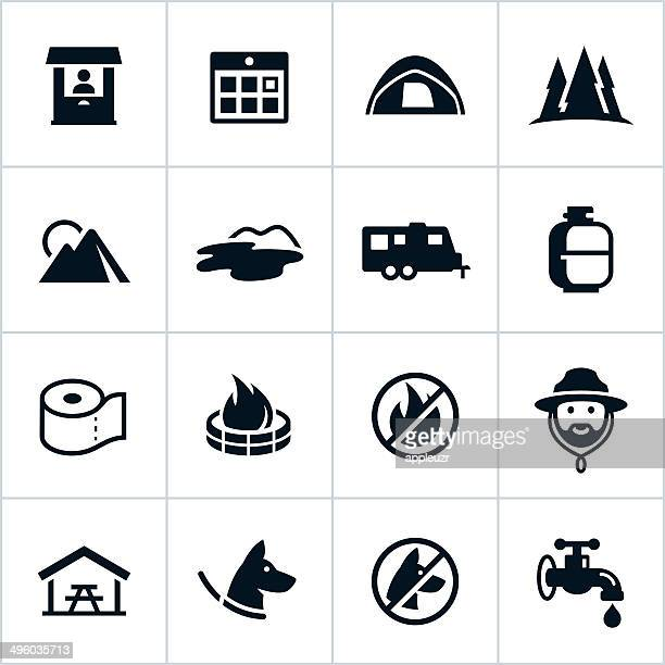 Black Campground Icons