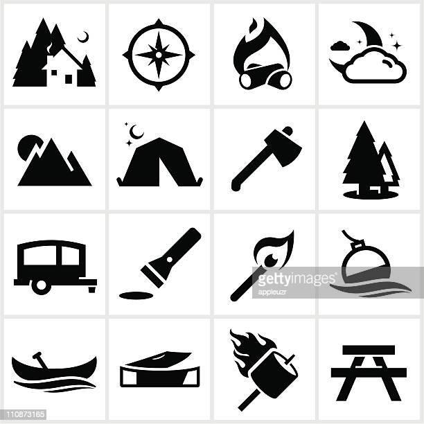 Black Camping Icons