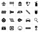 Black Car part and services icons 2