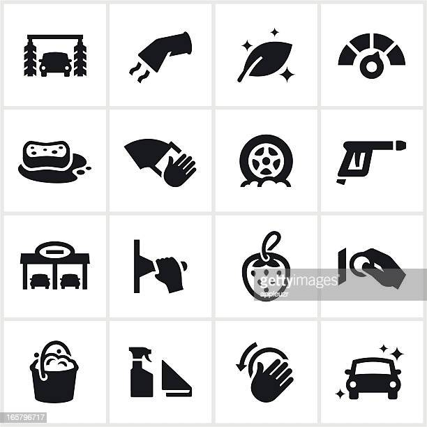 Black Car Wash Icons