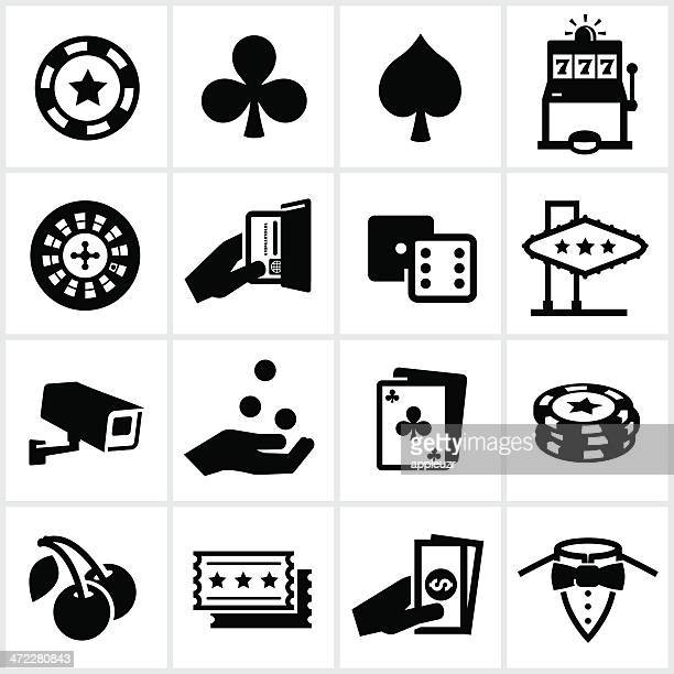 Black Casino Icons