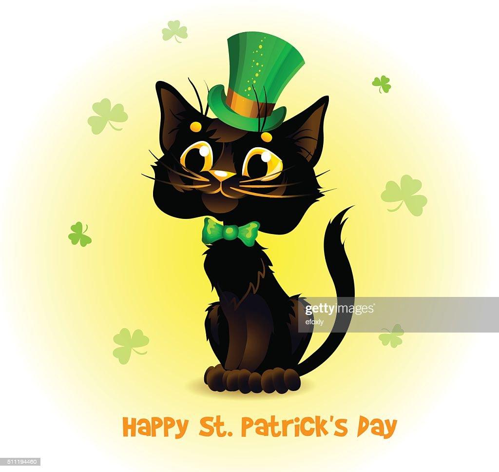 Black Cat in the Leprechaun hat.