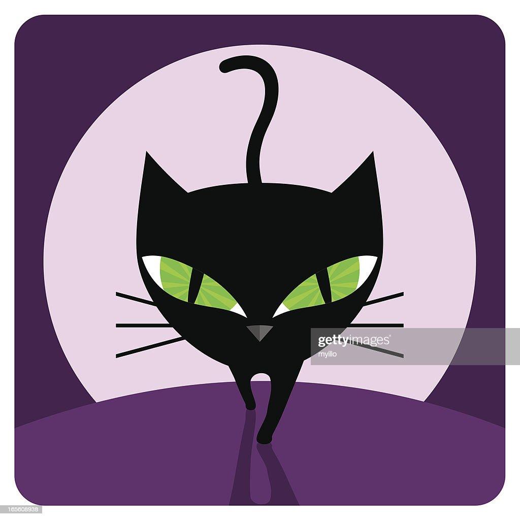 Black cat : stock illustration
