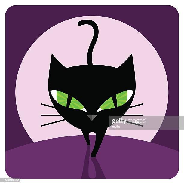 ilustraciones, imágenes clip art, dibujos animados e iconos de stock de negro cat - stealth