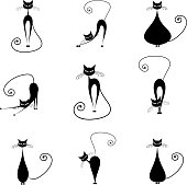 Black cats, collection for your design