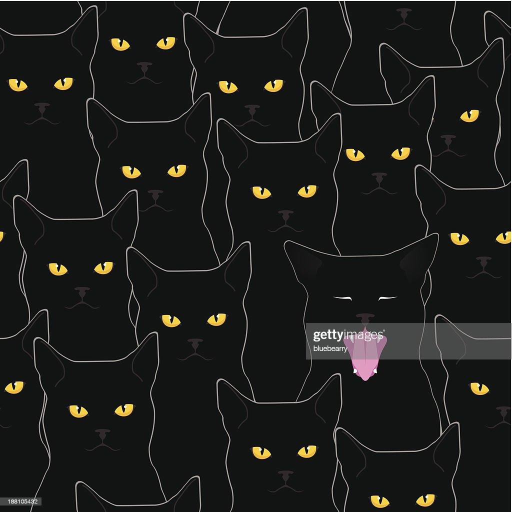 Black cats pattern