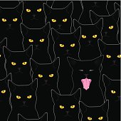 Black cats pattern