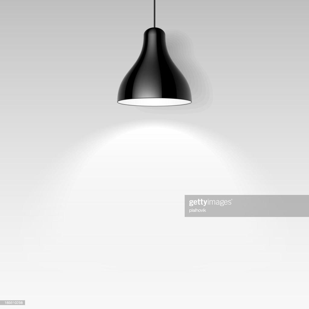 Black ceiling lamp