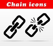 black chain vector icons design