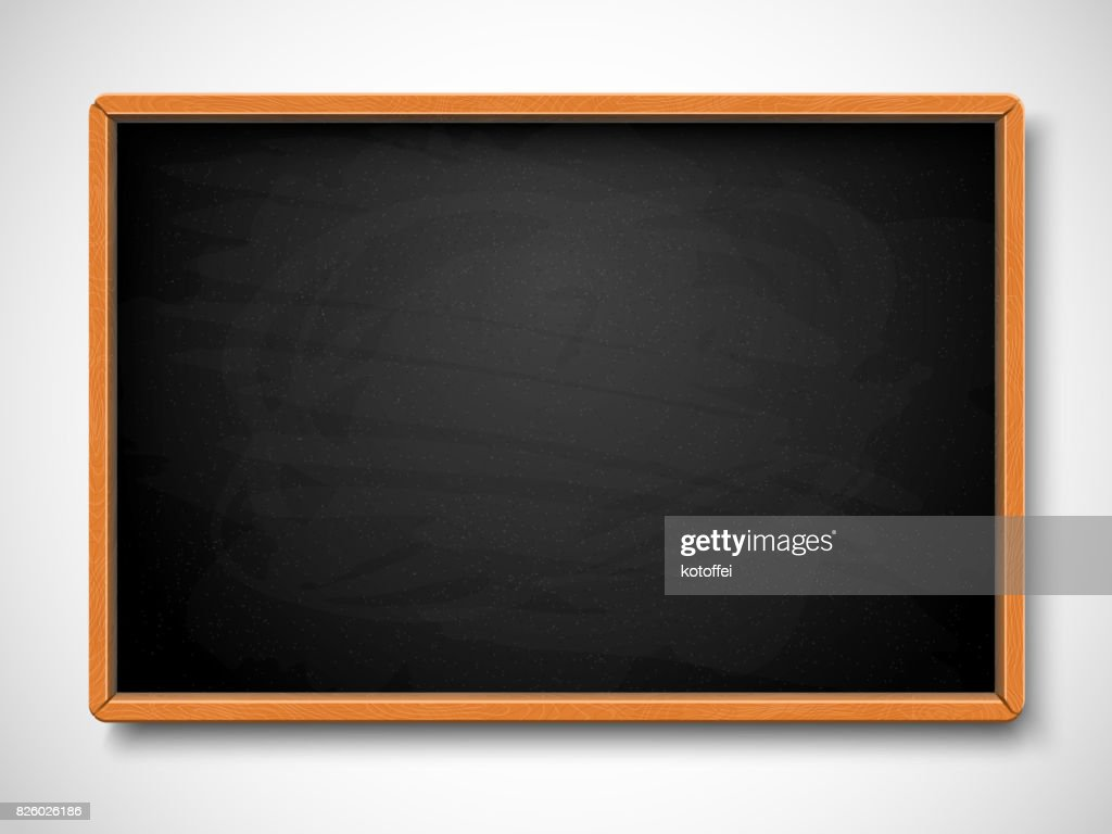 Black chalkboard. Vector illustration