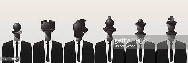 Equipo de ajedrez negro